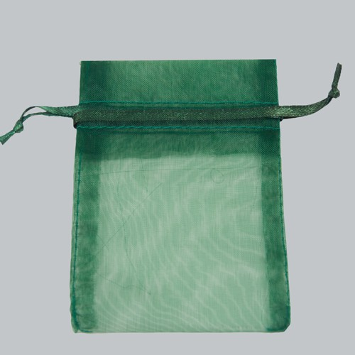5 x 6.5 HUNTER GREEN SHEER ORGANZA POUCHES