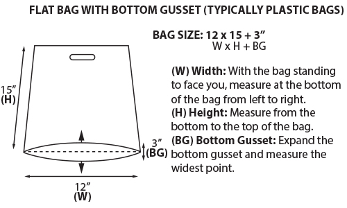 Flat Bag With Bottom Gusset