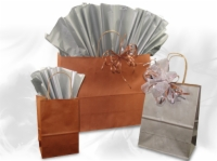Matte Metallic Paper Shopping Bags – 51% Recycled Paper Content